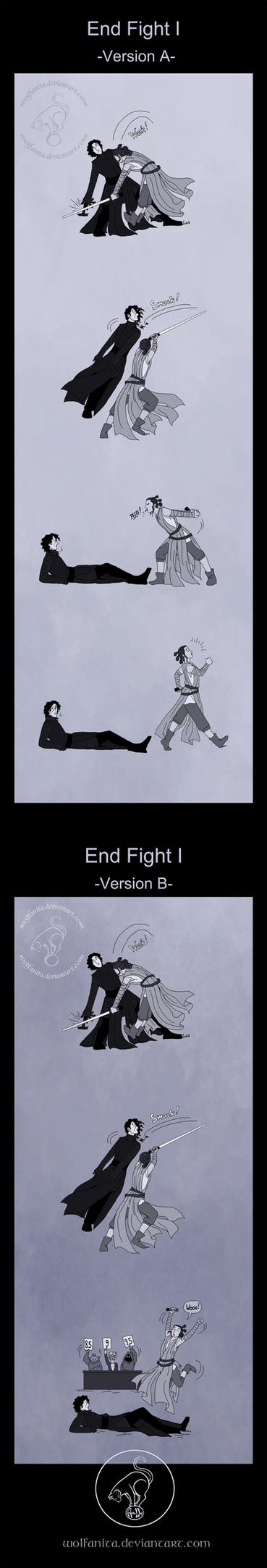 Star Wars: TSDD: End Fight I by wolfanita