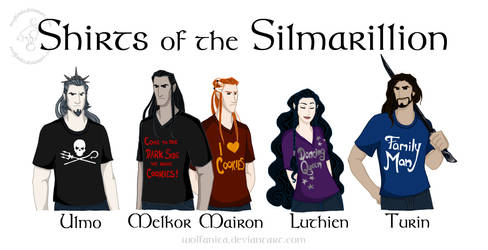 Shirts of the Silmarillion by wolfanita