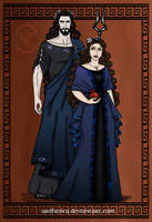 GodsOfAncientGreeceCouples: Hades and Persephone by wolfanita