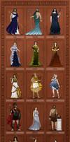 Gods of Ancient Greece by wolfanita