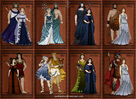 GodsOfAncientGreece Couples and Family by wolfanita