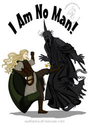 Shirt Design: LotR: I Am No Man by wolfanita