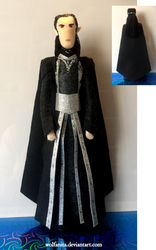 Silmarillion: Felt Melkor by wolfanita