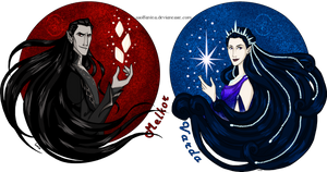 Silmarillion: Valar Shirt Designs Melkor and Varda