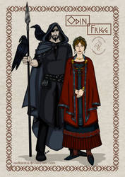 Norse Gods_Couples: Odin and Frigg
