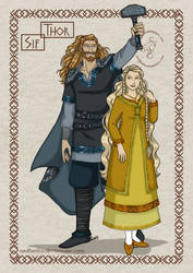 Norse Gods_Couples: Thor and Sif