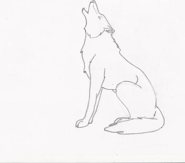 Easy Wolf Howling Drawing