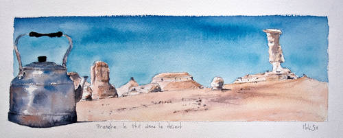 To drink tea in the desert by Melwilyn