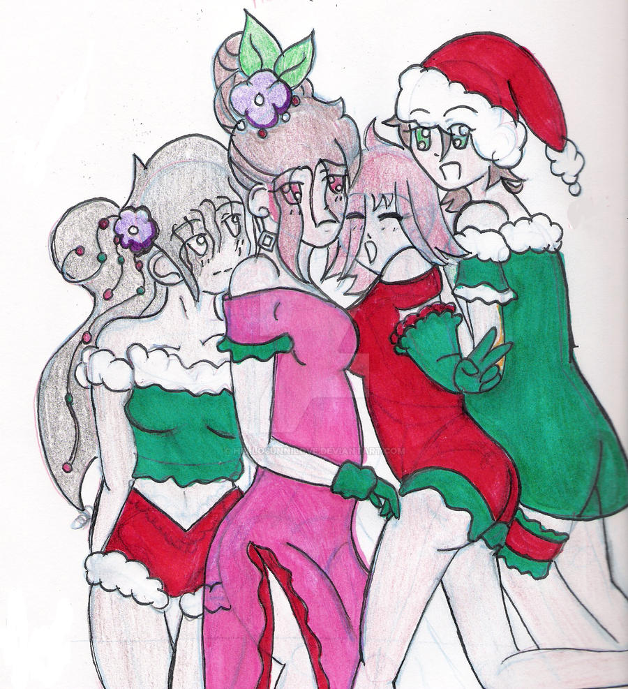The four maidens fair.:XMAS:. by Sunnibutt