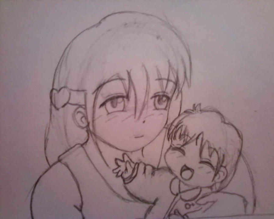 Kae and baby Raye by Sunnibutt