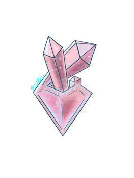 Rose Heart Crystal