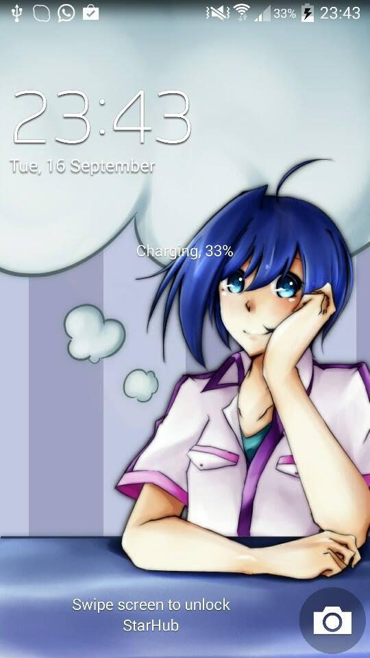 .: CFV : Aichi : Lockscreen :. by L-Y-R-I-E