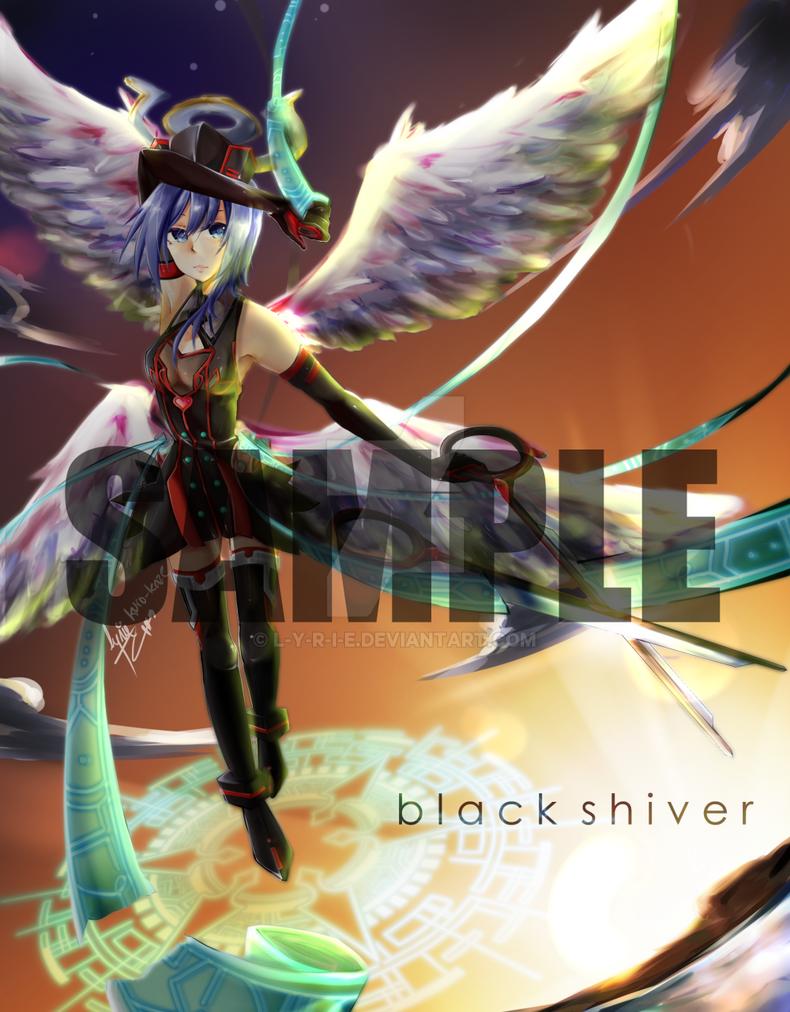 .: commission : CFV : Black Shiver, Aichi :. by L-Y-R-I-E