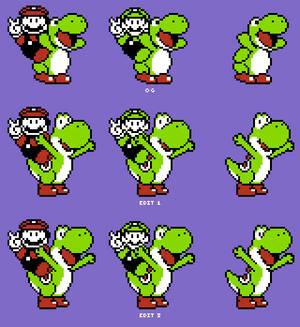 NES Yoshi Updated Sprites