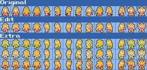 HW NES Princess Zelda Updated Sprites