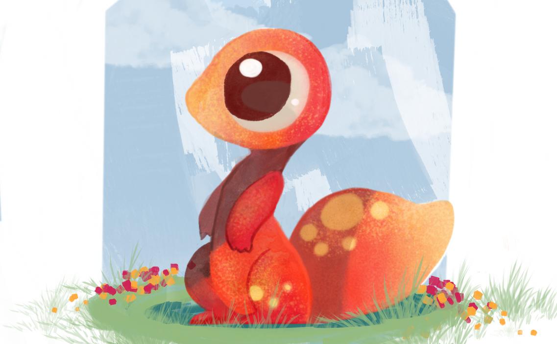cute little lizard by OoFluffoO