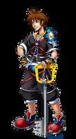Sora Dissidia Final Fantasy by VampireMell