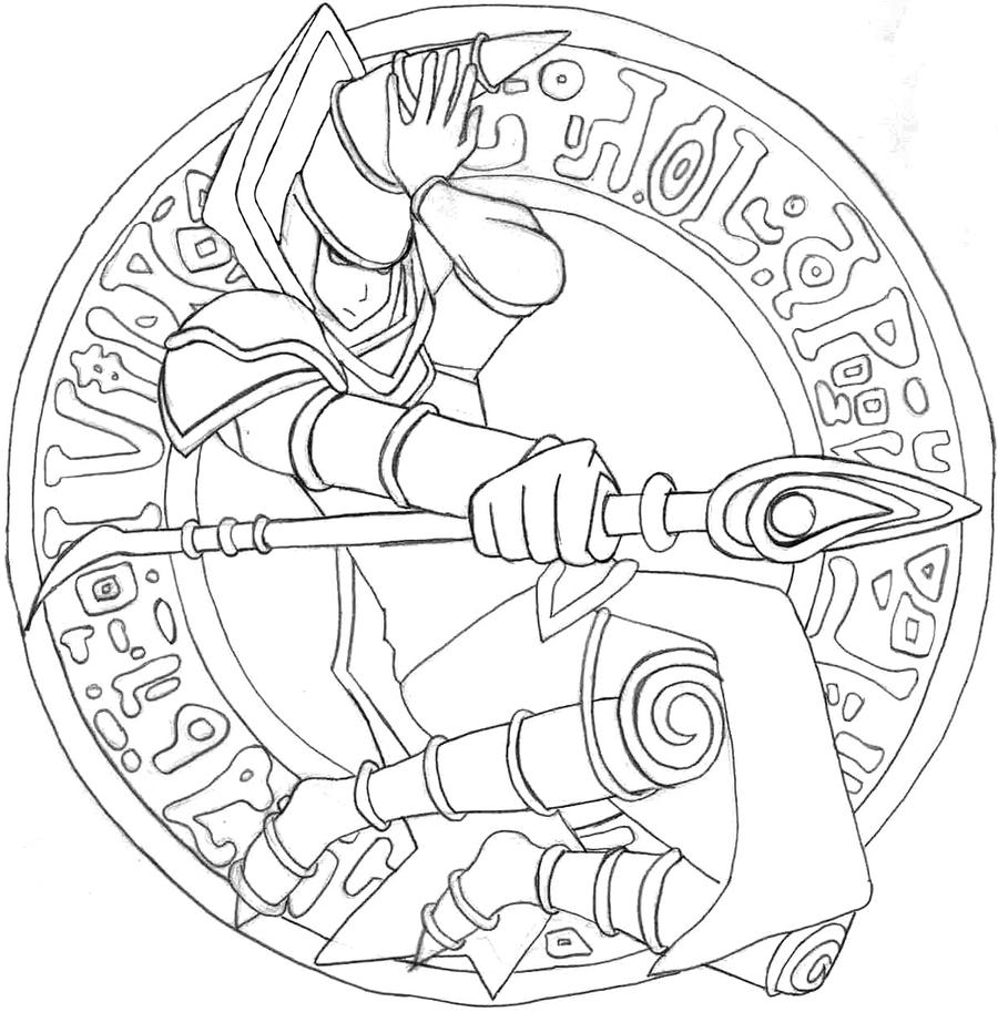 Magician coloring pages ~ Dark Magician lineart by aequinoctium93 on DeviantArt