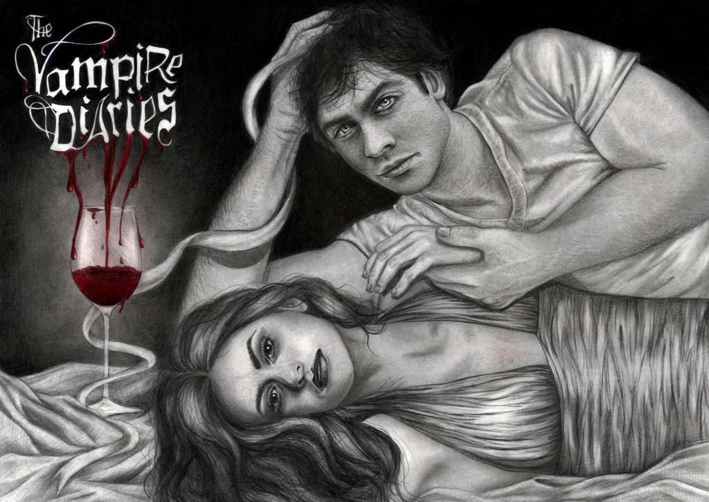 TVD - Damon and Elena by Flowertree-elf