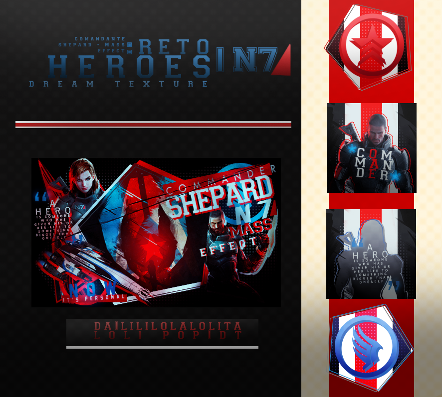 Reto: Heroes - Comandante Shepard - Mass effect by LiliLolaLolita