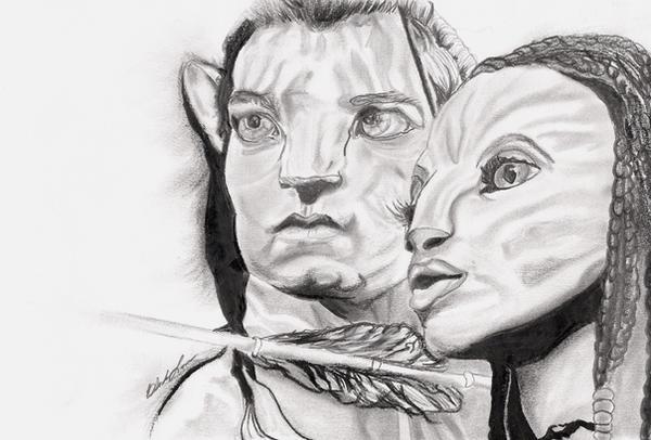 Jake Sully and Neytiri by zgamer0221