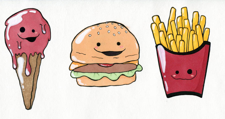 how to draw cute food pictures