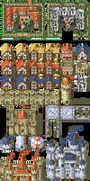 32px Fire Emblem-style tileset: Buildings