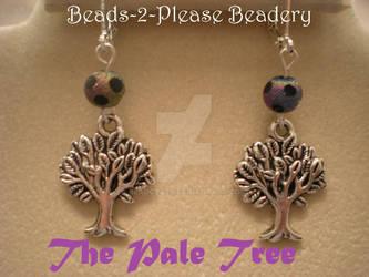 Pale Tree Sylvari Guild Wars 2 Inspired Earrings by beadclass