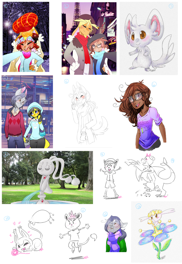 PKMNA :: Doodledump I really lost the count by KeIdeo