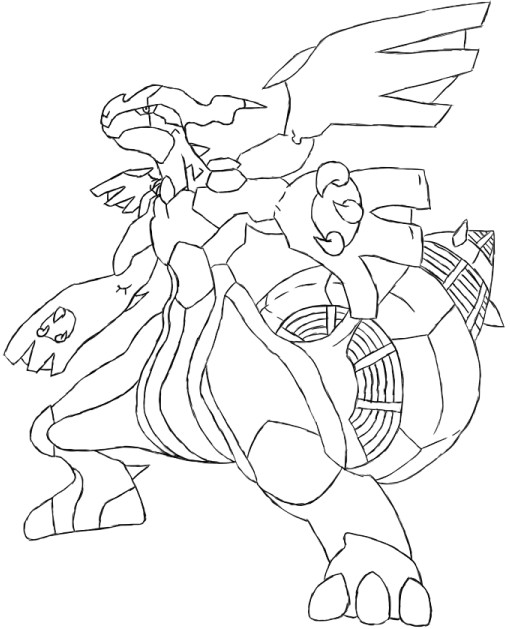 zekrom ex coloring pages | Zekrom by LugiaLuvr13 on DeviantArt