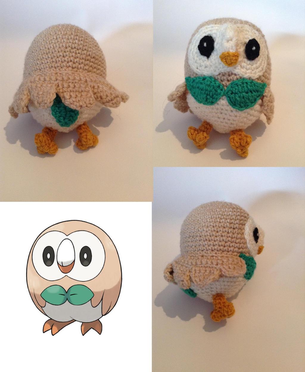 Rowlet Crochet Pattern by LugiaLuvr13 on DeviantArt