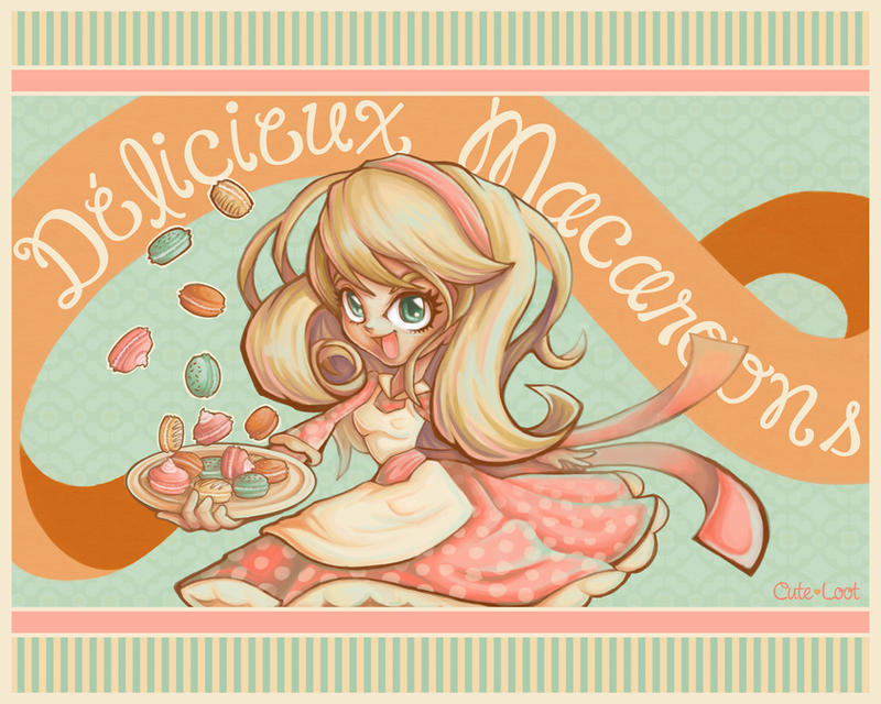 Delicious Macaroons by cute-loot