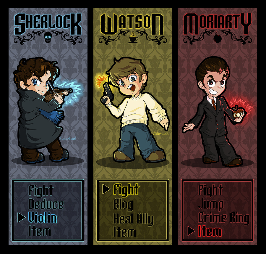 The Game Is On - Sherlock Bookmarks by cute-loot