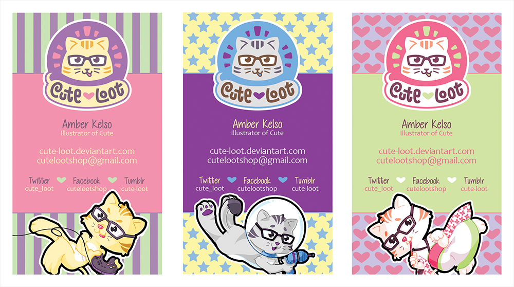 Cute loot business cards 2014 by cute loot on deviantart for Table 52 cards 2014