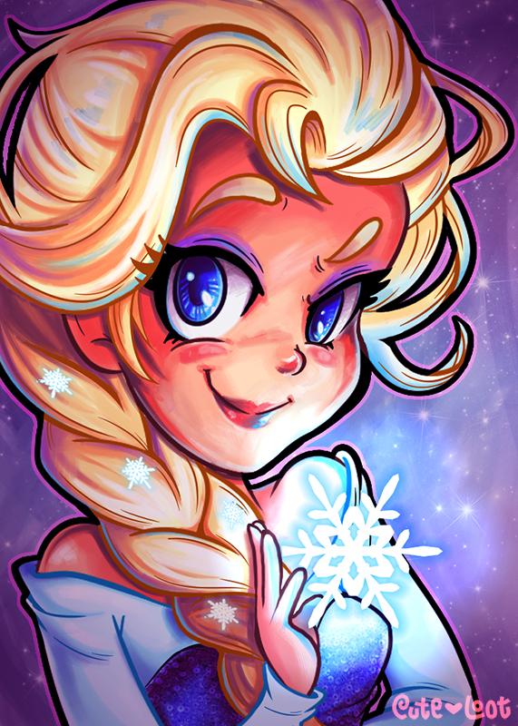 Let It Snow  Elsa by cute-loot