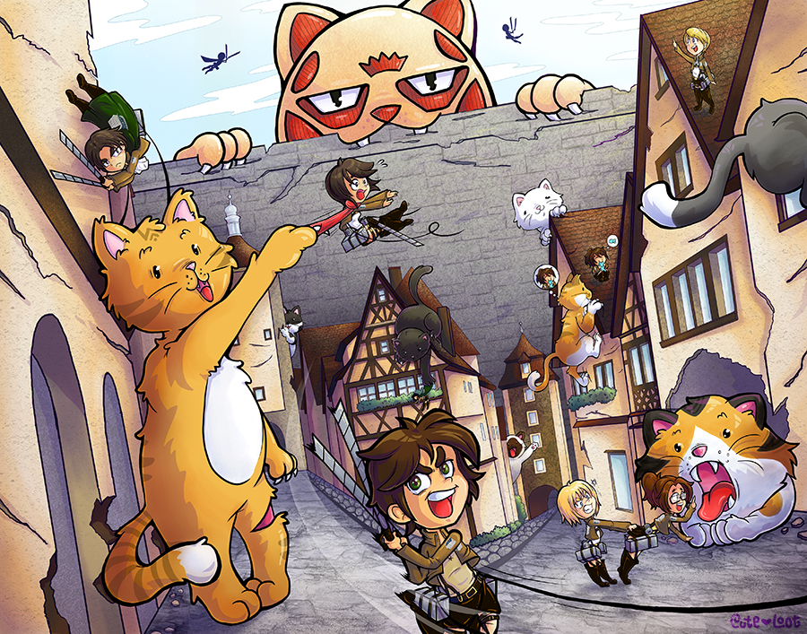 Attack on Kitten by cute-loot