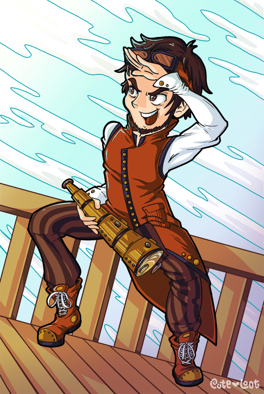 Commission - Steampunk Airship Captain by cute-loot