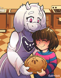 Undertale ~ Toriel and Frisk by cute-loot