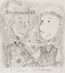 Flower crown children by whitebunny1063