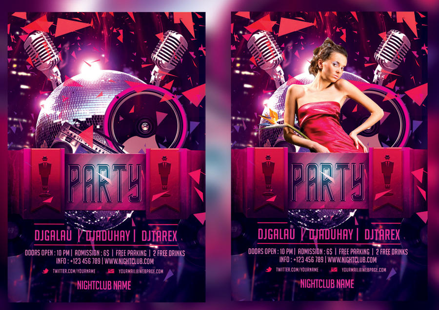 Night Club Flyer Template By Mihaimcm On Deviantart