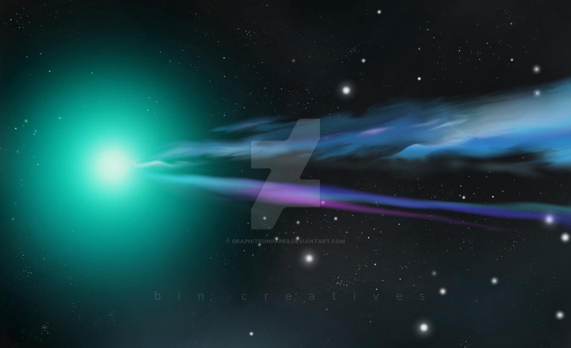 Comet Lovejoy by GraphiteOnPaper