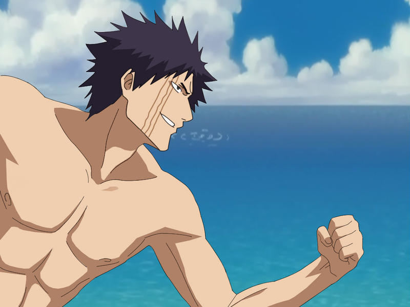 hisagi shuuhei on the beach by arcee chan 15 Handsome Male Anime Characters with Tattoos