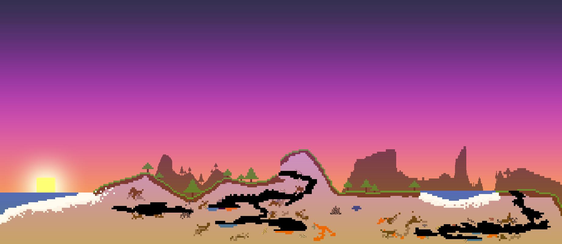 Pixel Art Landscape Wallpaper