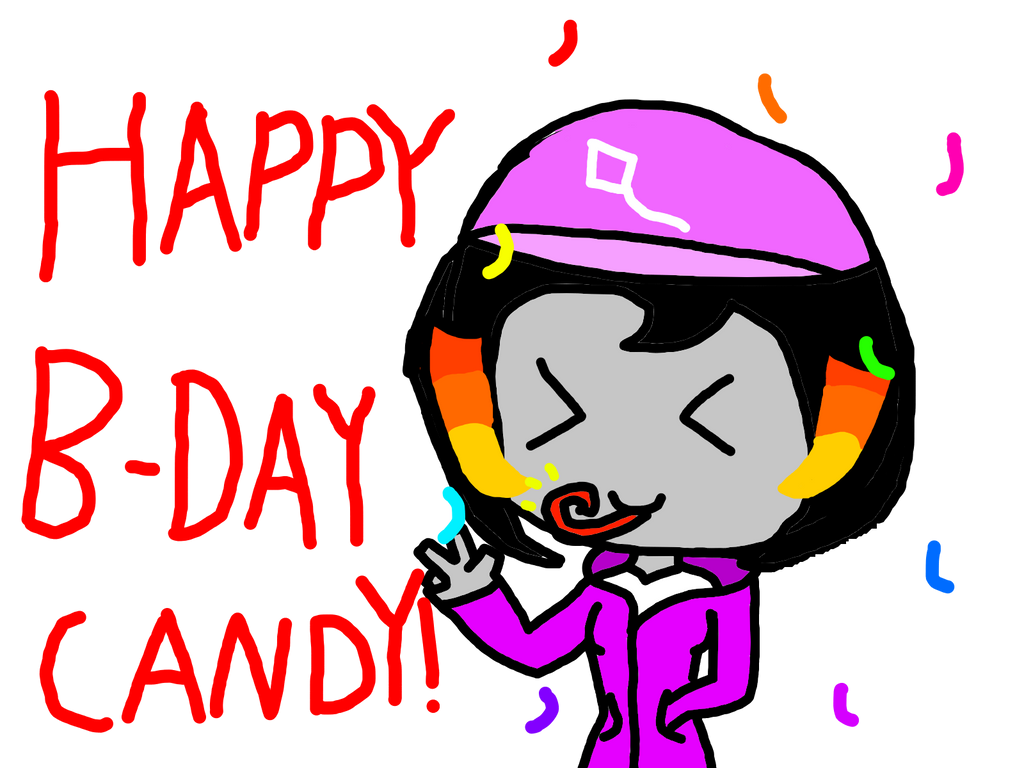 Happy Birthday Candy-army! by BubblegumButton