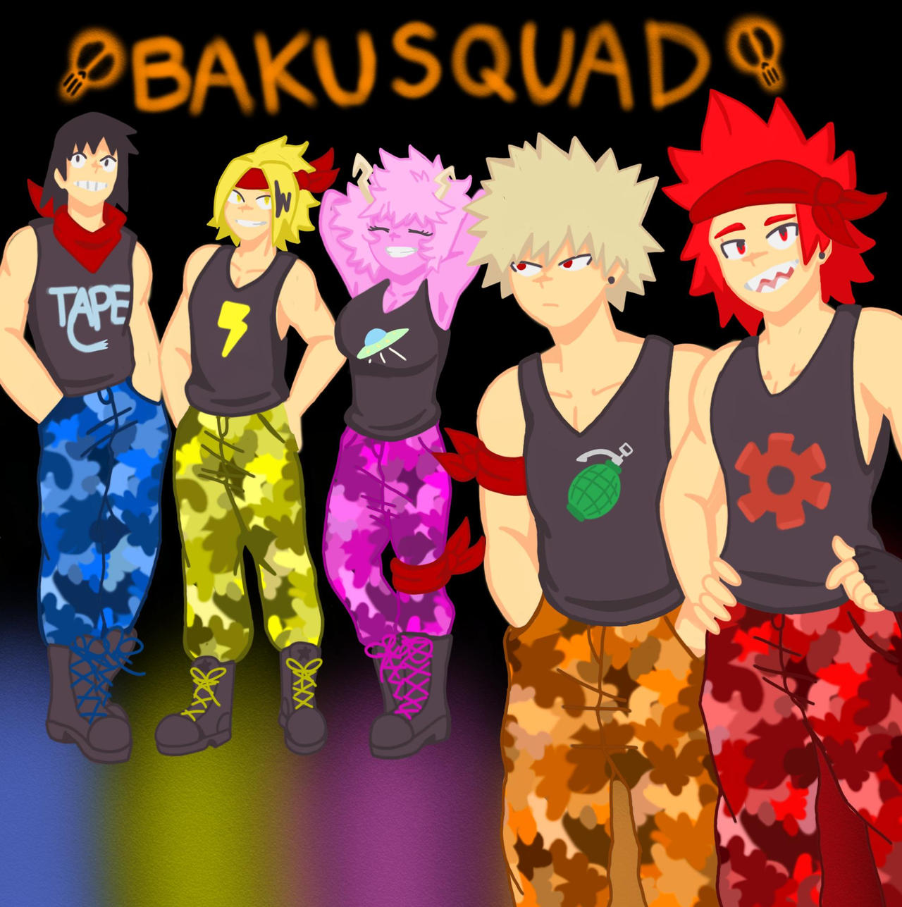 Bakusquad By Kirishime02262004 On Deviantart The bakusquad and a few other students are in the common room relaxing and talking before they have to go to bed for the night. bakusquad by kirishime02262004 on