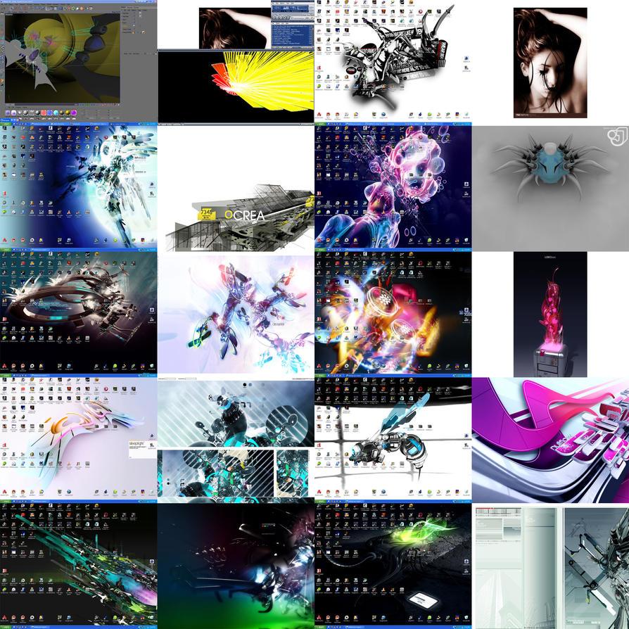 My 18 Different Desktops by justinsub7