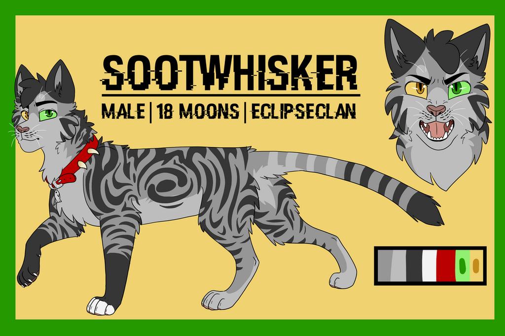 Sootwhisker [new ref sheet] by Warrior-Junkie