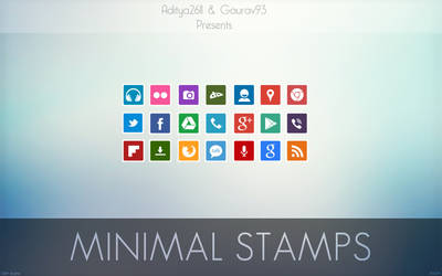 Minimal Stamps Icon Pack