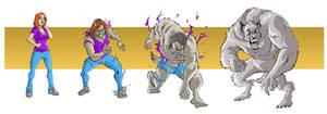 Old School Werewolf Tf by FullMoonMaster