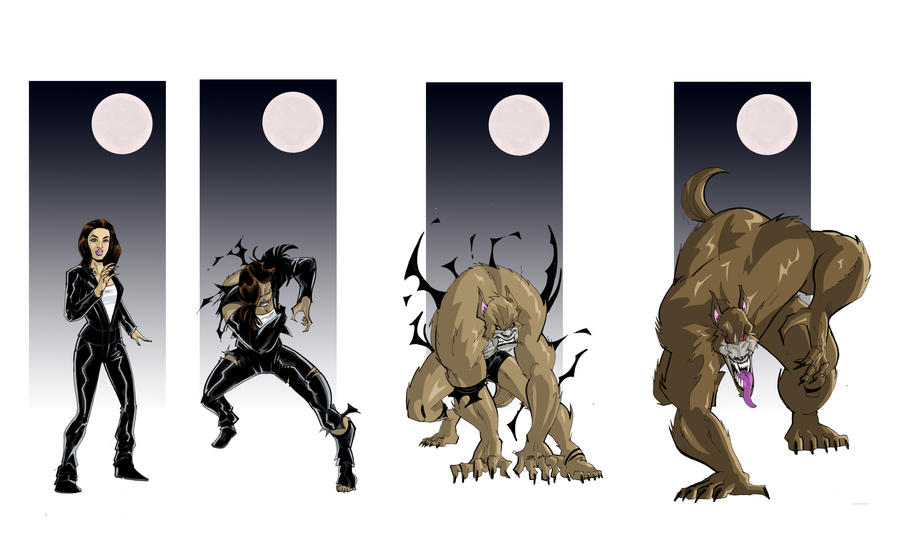 Wolf Transformation Sequence Old School Werewolf Tf 03 by